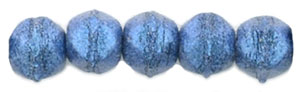English Cut Round 3mm : Metallic Suede - Blue