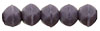 English Cut Round 3mm : Matte - Opaque Purple
