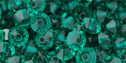 M.C. Beads 5 x 3mm - Spacer : Emerald