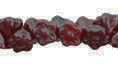 Button Style Bead Flower 7mm : Luster - Oxblood
