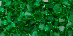 M.C. Beads 4 x 4mm - Bicone : Green Emerald