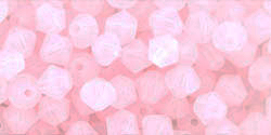 M.C. Beads 4/4mm - Bicone : Soft Opal Pink
