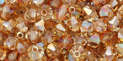 M.C. Beads 4/4mm - Bicone : Crystal AB - Celsian
