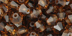 M.C. Beads 5/5mm - Bicone : Smoky Topaz