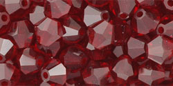 M.C. Beads 5/5mm - Bicone : Ruby