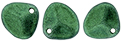 Rose Petals 8/7mm : Metallic Suede - Leafy Green