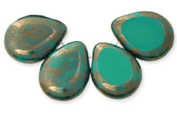Polished Drops 12/16mm : Persian Turquoise - Moon Dust