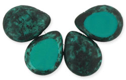 Polished Drops 12/16mm : Persian Turquoise - Black Picasso