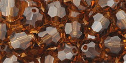 M.C. Beads 6mm - Round: Smoky Topaz