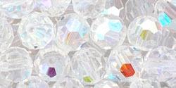 M.C. Beads 6mm - Round : Crystal AB