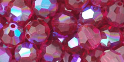 M.C. Beads 6mm - Round : Fuchsia AB