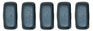 CzechMates Bricks 6 x 3mm : Pearl Coat - Charcoal