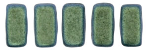 CzechMates Bricks 6 x 3mm : Polychrome - Aqua Teal