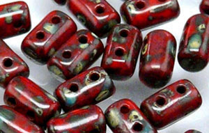 "Rulla 5 x 3mm Tube 2.5"" : Opaque Red - Picasso"