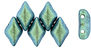 GEMDUO 8x5mm : Polychrome - Aqua Teal