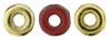 O-Bead 1x4mm : Opaque Red - Brass 1/2