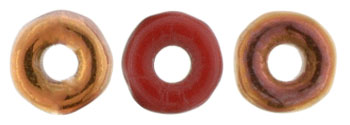 O-Bead 4 x 1mm : Opaque Red - Sunset 1/2