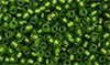 Matubo Seed Bead 8/0 : Matte - Chrysolite - Bronze Ice-Lined