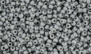 Matubo Seed Bead 11/0 : Luster - Opaque Gray