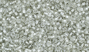"Matubo Seed Bead 11/0 Tube 2.5"" : Crystal - Silver-Lined"
