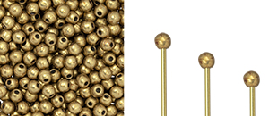 "Finial Half-Drilled Round Bead 2mm Tube 2.5"" : ColorTrends: Saturated Metallic Ceylon Yellow"