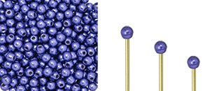 "Finial Half-Drilled Round Bead 2mm Tube 2.5"" : ColorTrends: Saturated Metallic Ultra Violet"