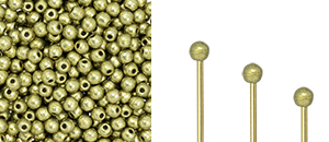 "Finial Half-Drilled Round Bead 2mm Tube 2.5"" : ColorTrends: Saturated Metallic Limelight"