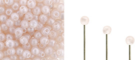 "Finial Half-Drilled Round Bead 2mm Tube 2.5"" : Metal Luster - Rosaline"
