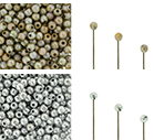 Finial Half-Drilled Round Bead 2mm