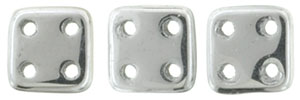 "CzechMates QuadraTile 6mm Tube 2.5"" : Silver"