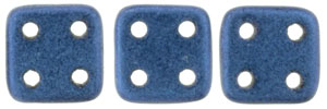 "CzechMates QuadraTile 6mm Tube 2.5"" : Metallic Suede - Blue"