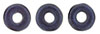 Ring Bead 1/4mm : Metallic Suede - Dk Blue