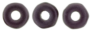 Ring Bead 1/4mm : Metallic Suede - Dk Plum