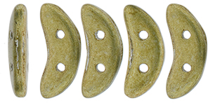 "CzechMates Crescent 10 x 3mm Tube 2.5"" : ColorTrends: Saturated Metallic Golden Lime"