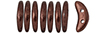 CzechMates Crescent 10 x 3mm : ColorTrends: Saturated Metallic Chicory Coffee