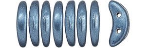 "CzechMates Crescent 10 x 3mm Tube 2.5"" : ColorTrends: Saturated Metallic Bluestone"