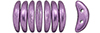 CzechMates Crescent 10 x 3mm : ColorTrends: Saturated Metallic Grapeade