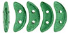 CzechMates Crescent 10 x 3mm : ColorTrends: Saturated Metallic Emerald Green