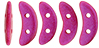 CzechMates Crescent 10 x 3mm : Opalescent Neon Pink