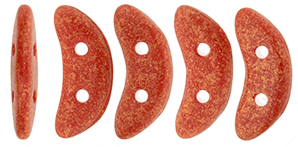 "CzechMates Crescent 10 x 3mm Tube 2.5"" : Red Antique Shimmer"