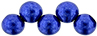 Top Hole Round 6mm : ColorTrends: Saturated Metallic Lapis Blue