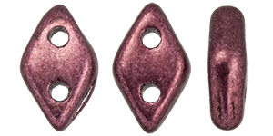 CzechMates Diamond 4x6.5mm : ColorTrends: Saturated Metallic Red Pear