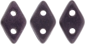 "CzechMates Diamond 6.5 x 4mm Tube 2.5"" : Metallic Suede - Dk Plum"