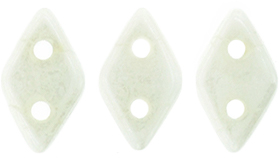 "CzechMates Diamond 4x6mm Tube 2.5"" : Luster - Opaque White"