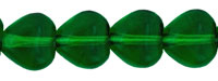 Heart Beads 6 x 6mm : Green Emerald