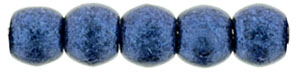 Round Beads 2mm : Metallic Suede - Blue