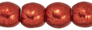 Round Beads 3mm : ColorTrends: Saturated Metallic Cranberry