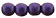 Round Beads 3mm : Metallic Suede - Purple