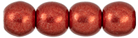 Round Beads 4mm : ColorTrends: Saturated Metallic Cherry Tomato