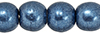 Round Beads 4mm : ColorTrends: Saturated Metallic Bluestone